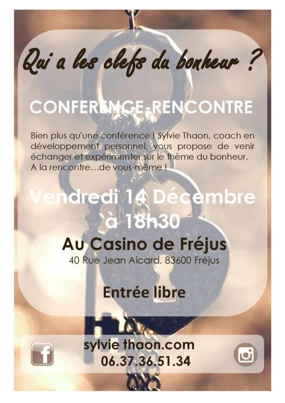 Qui a les clefs du bonheur conférence sylvie thaon fréjus casino de fréjus coaching développement personnel