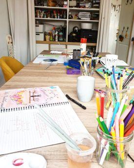 atelier happy créatif coaching art thérapie breve être soi confiance fréjus saint raphaêl var sylvie thaon carnet bullet journal groupe