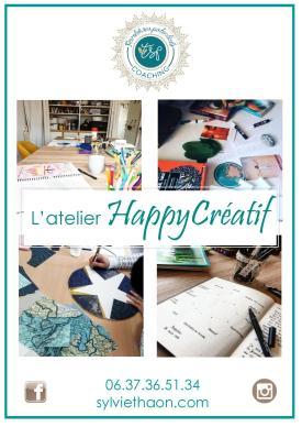 atelier happycréatif coaching art thérapie développer potentiel créatif créativité coaching par l'art sylvie thaon fréjus saint raphaël var mandala écriture