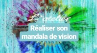 réaliser son mandala de vision sylvie thaon art thérapie coaching par l'art webatelier tableau de visualisation intention créatrice créer son futur changement centre téora