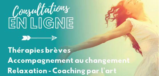 Ciaching en ligne consultation accompagnement au changement therapie breve coaching par l'art vie arttherapie gtsconcept frejus france